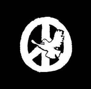Taube vor Friedensrune